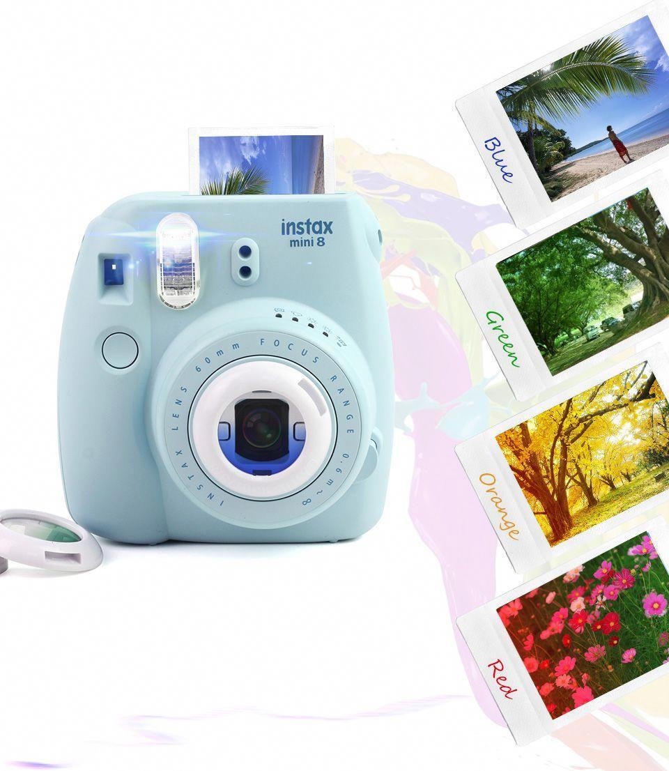 4 Colors Set Filter Close-Up Lens For Fujifilm Instax Mini 7s Mini 8 Camera