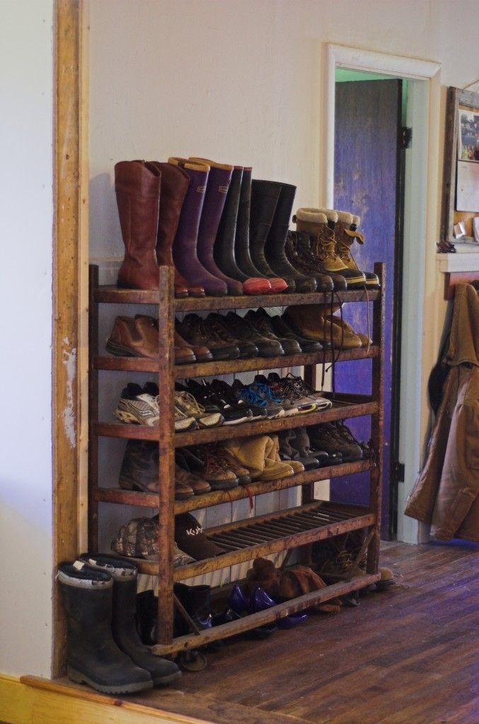 Reclaimed Shoe Rack Shoe Rack Boot Rack Storage