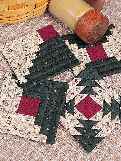 Quick-to-Quilt Coasters & Bonus Quilted Coasters | Quilt projects ...