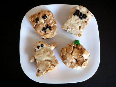 Halloween S\u0027mores Snacks recipe with Golden Grahams cereal via Baked - halloween cooking ideas