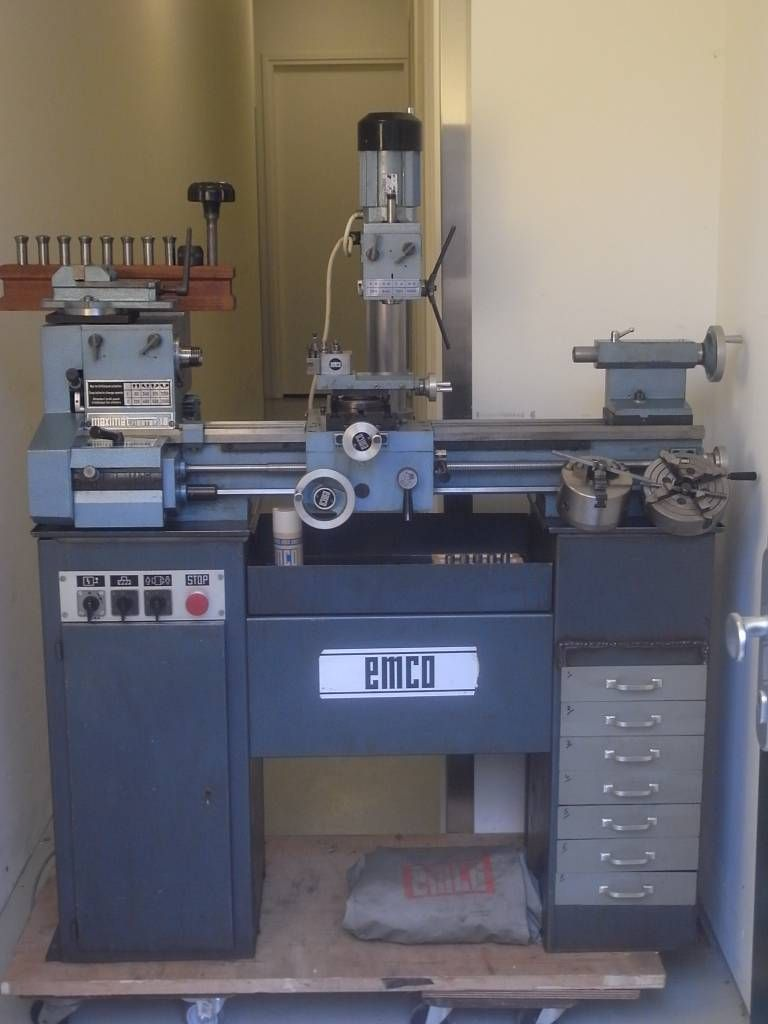 Emco Maximat Mentor 10 Lathe + Milling Attachment | Machine Metall