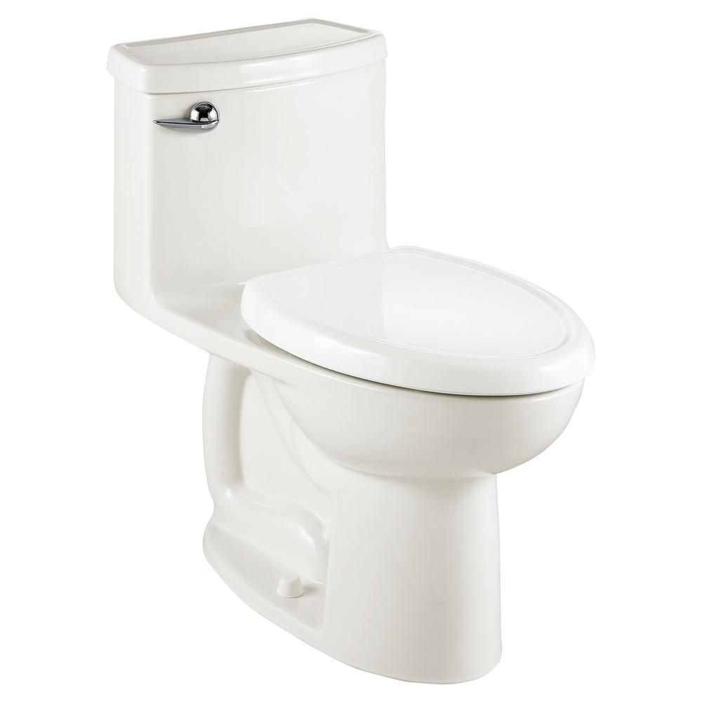 American Standard Compact Cadet 3 Flowise Tall Height 1 Piece 1 28 Gpf Single Flush Elongated Toilet In White Seat Included In 2020 Toilet For Small Bathroom American Standard Toilet