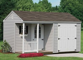 storage building with covered porch - for craft room