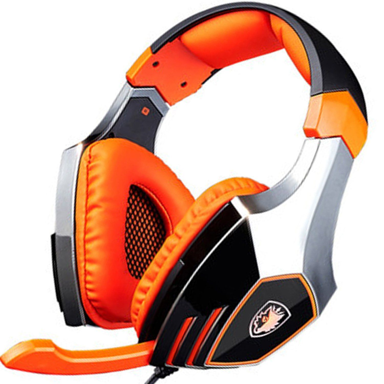 Amazon com: SADES A60 Ele Gaming Headsets with Microphone, Orange