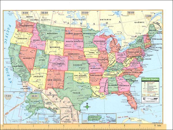 Map Usa States And Cities gallery map usa laminated usa base ...