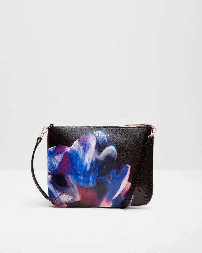 Cosmic Bloom cross body bag - Black   Bags   Ted Baker