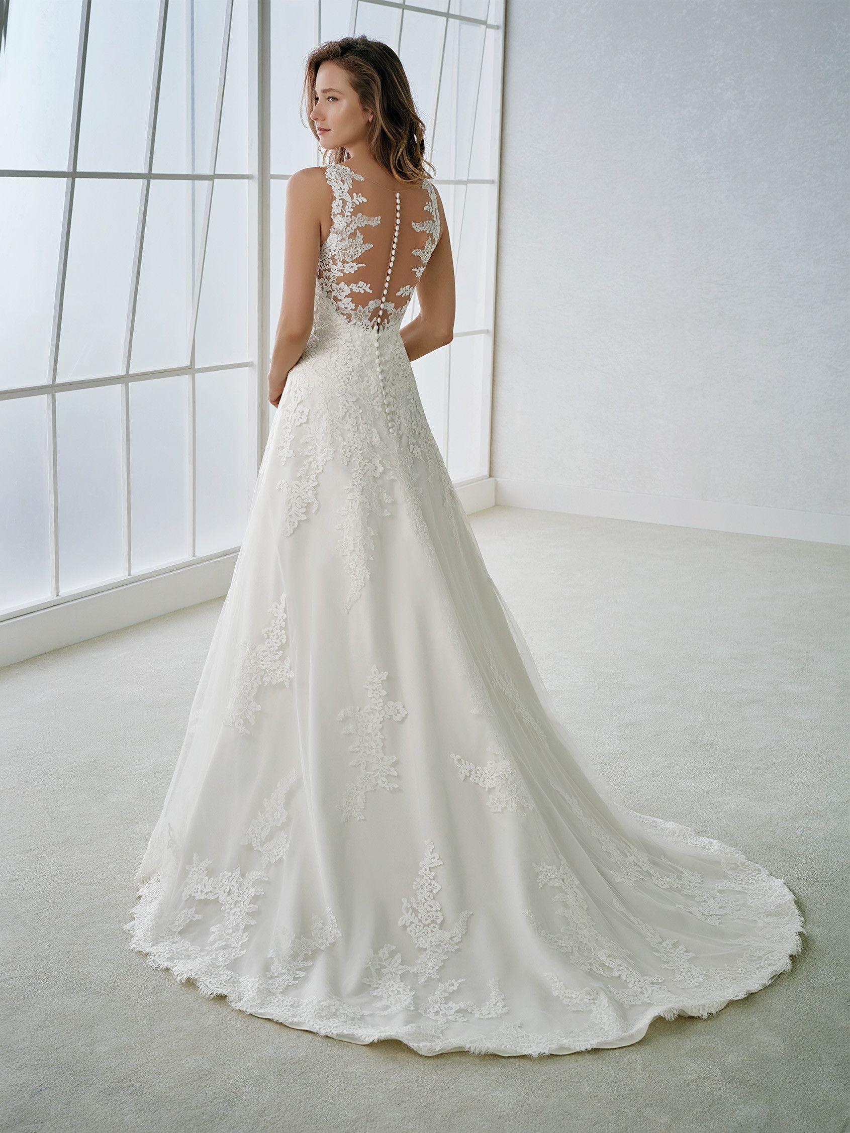 FABI A-line   Wedding gowns, dresses, headpieces and veils   Pinterest