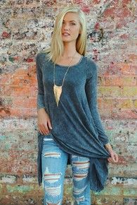 womens gray tunic
