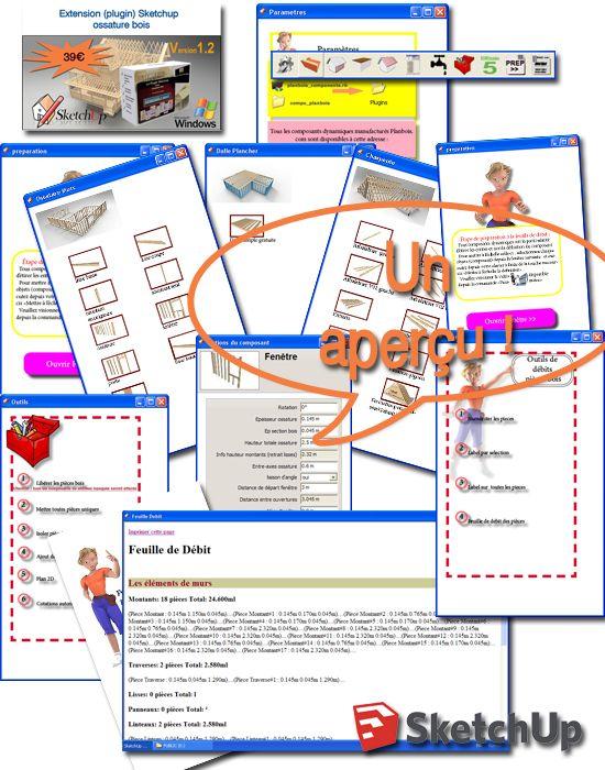 plugin Sketchup et ses composants dynamiques pour l\u0027ossature bois - logiciel plan de maison