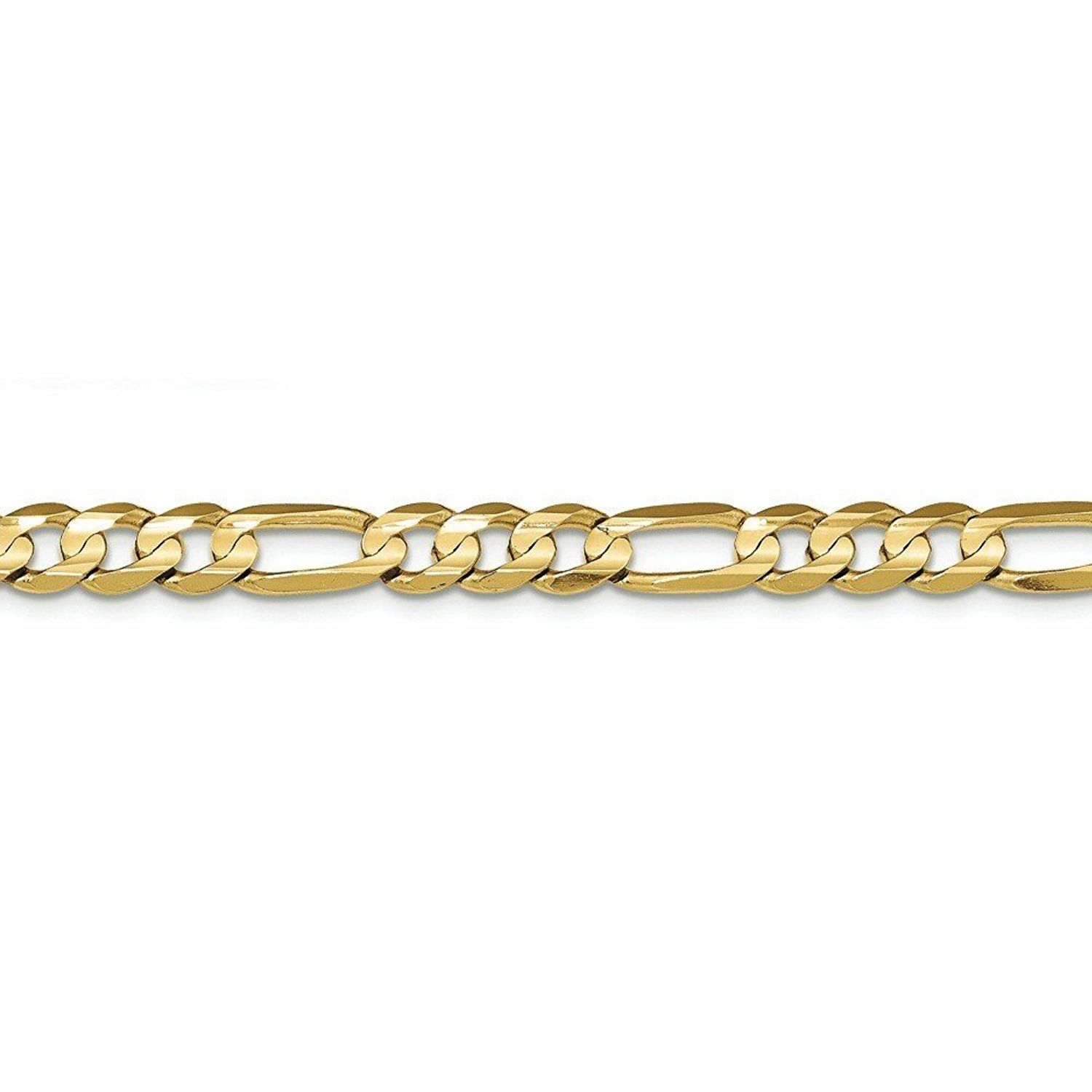 karat lobster chain gold figaro inch anklet pin concave open