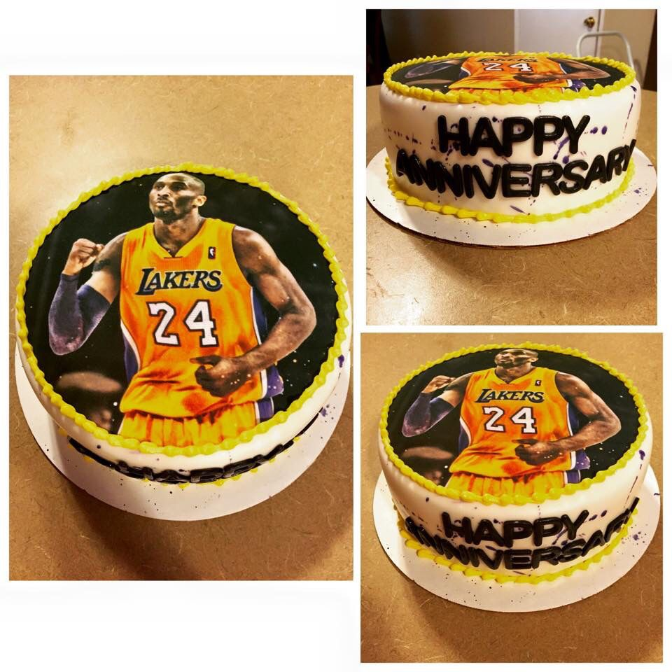 My Kobe Bryant cake was absolutely the best! Thank you to