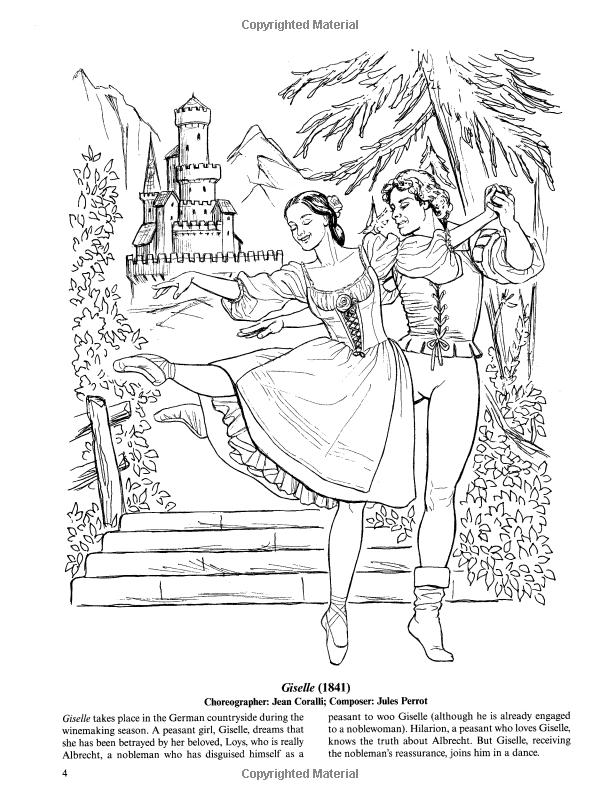 Favorite Ballets Coloring Book Dover Fashion Coloring Book Brenda