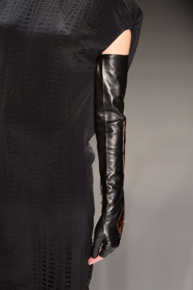 fingerless leather sleeves
