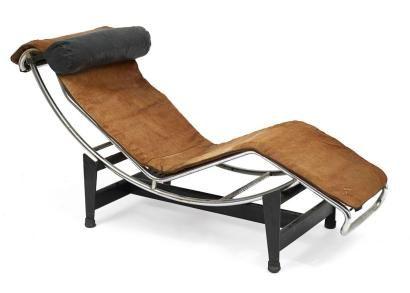 Le Corbusier Chaise Longue Lc4 Structure Tubulaire En Acier Chrome He Chaise Longue Mobilier Genial Chaise