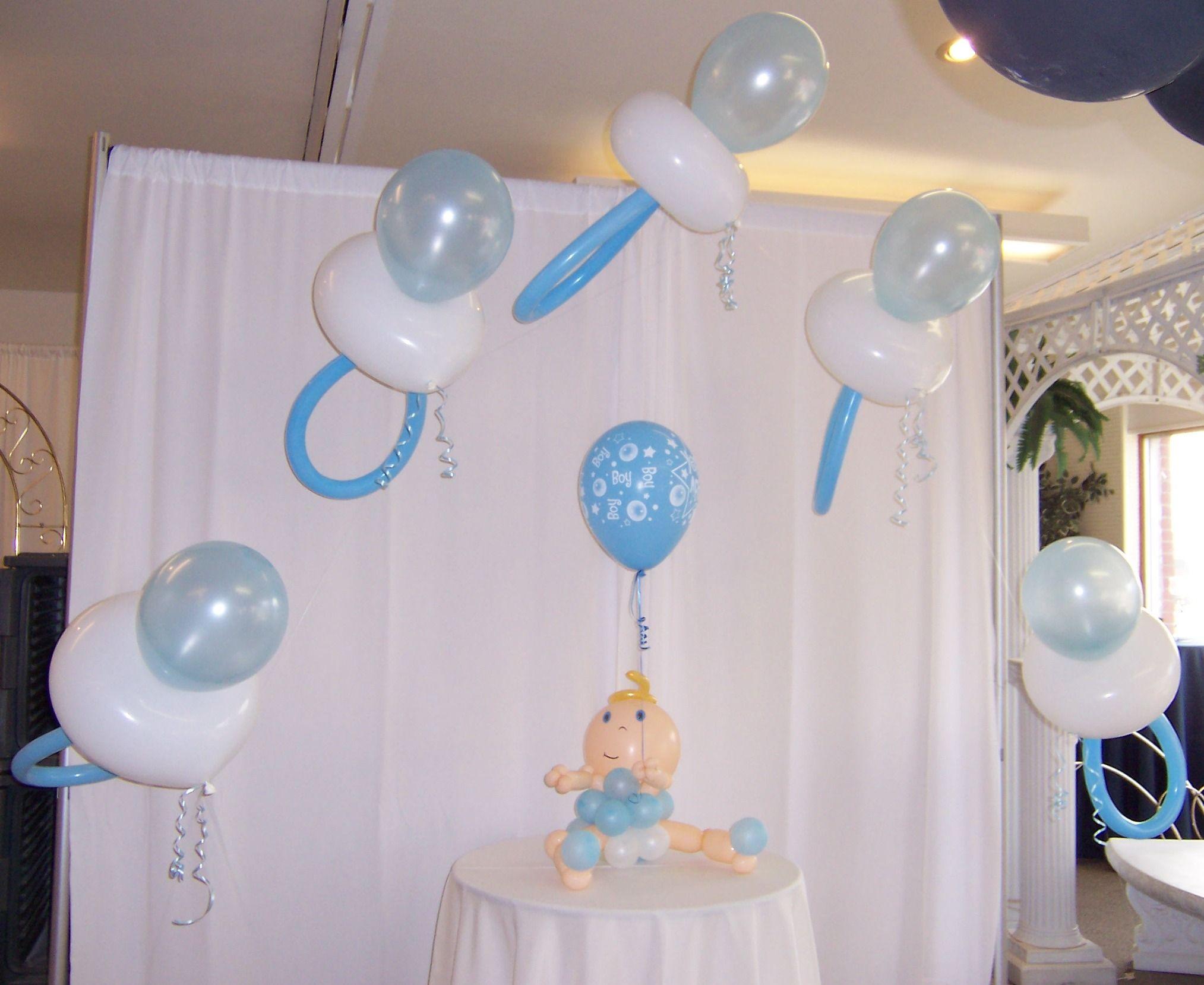 baby boy shower balloon arches