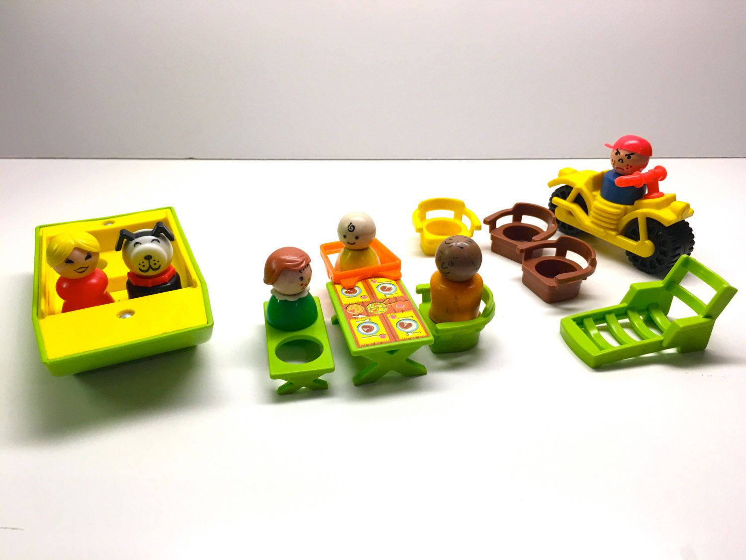 Vintage Fisher Price Camper Accessories With Little People by ...
