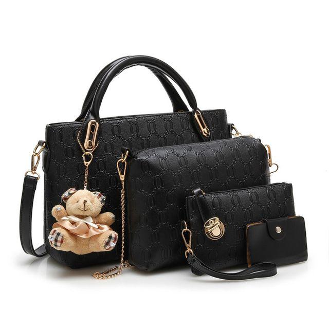 Diseñador Moda 4 Bolsas Por Set Bolsa Compuesta Lindo Oso Grande Chica Hombro Messenger Bag