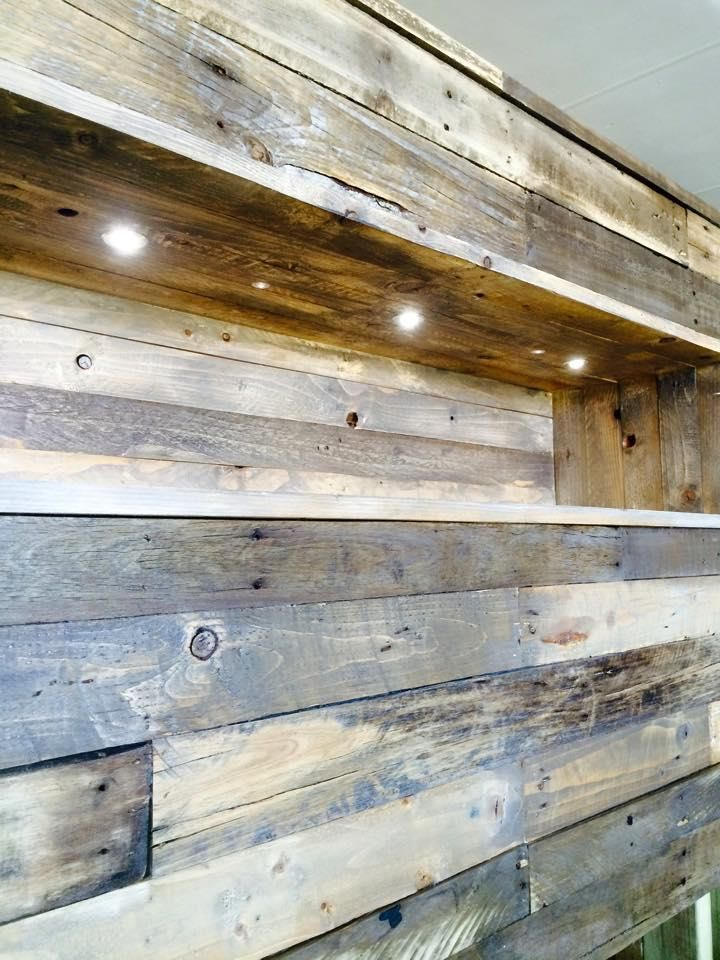 DIY Pallet Bed With Headboard, Lights, And Storage Underneath