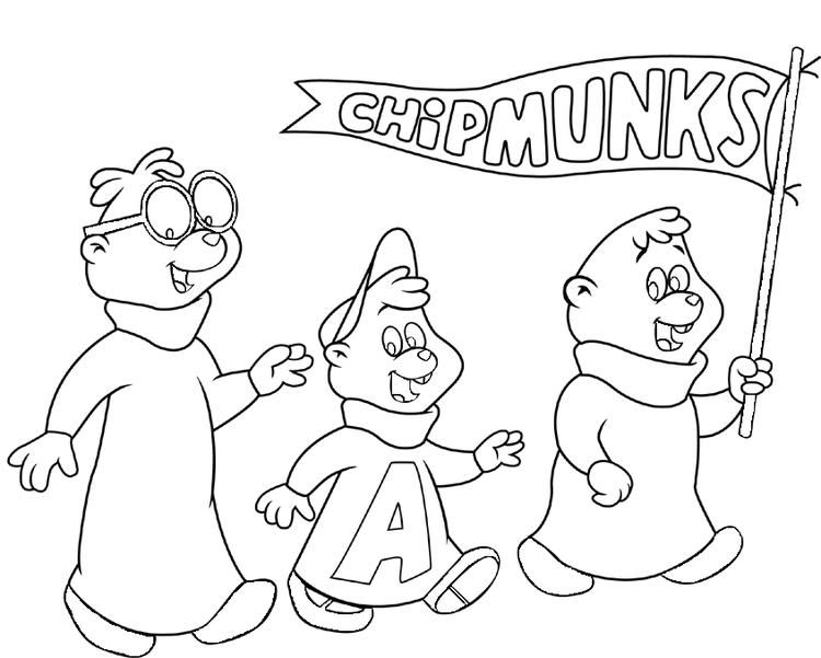 Alvin And The Chipmunks Coloring Pages Cartoon (With