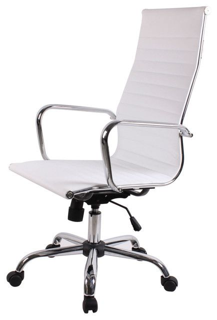 modern ergonomic office chair. High Style Back Modern Ergonomic Office Chair In White Eco-Leather S