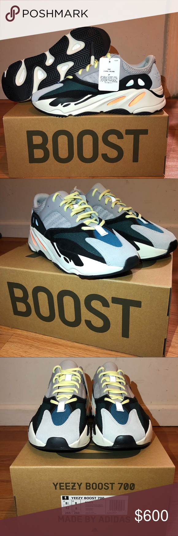 0337c3500 Adidas Yeezy Boost 700 Waverunner size US 8.5 Brand NEW! Size US 8.5 Ready  to ship  taking offers Yeezy Shoes Sneakers