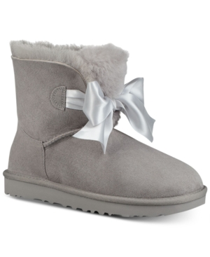 347e901c300 Ugg Women's Gita Bow Mini Booties - Gray 6 | Products | Uggs, Boots ...