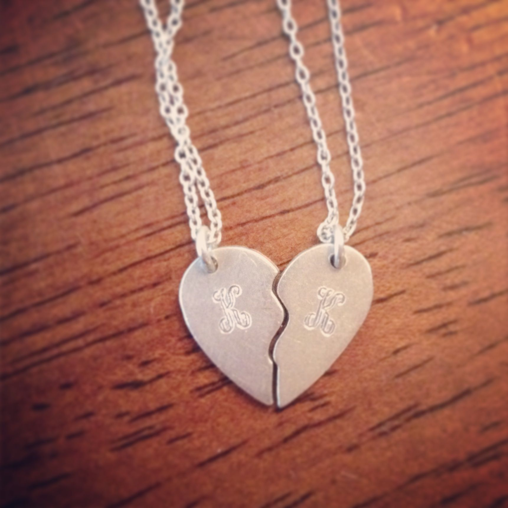 My Personal Engraved Relationship Necklaces. K + K | Necklaces ...