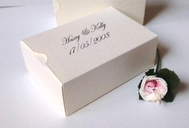 Ivory Personalised Wedding Cake Slice Sweet Favours Bo Birthday Party Gift