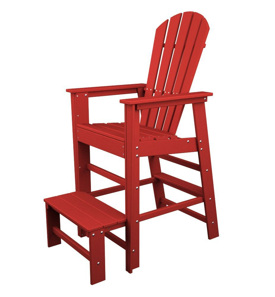 POLYWOOD™ South Beach Lifeguard Chair This Unique Chair Is Ideal For  Keeping An Eye On The Kids In The Pool. Made From Recycled HDPE Plastic  Durable ...
