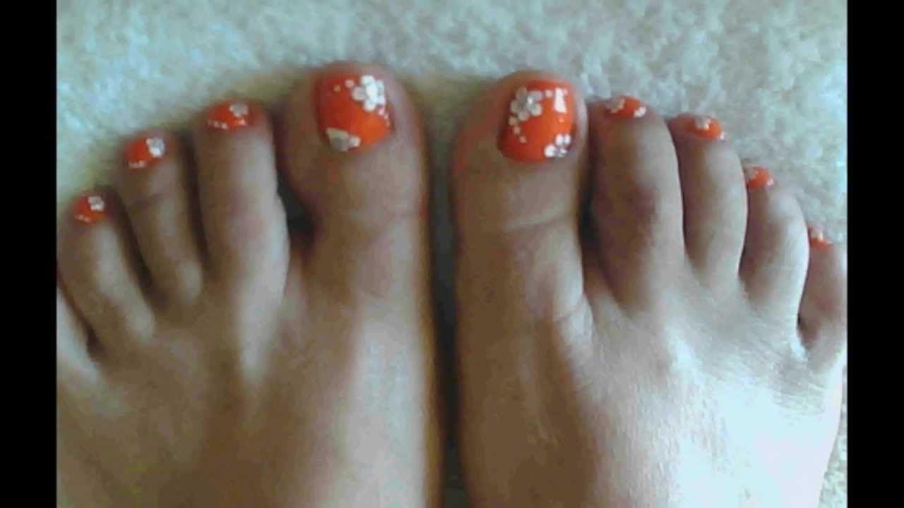 Pretty coral toe nail art design | Toe nails | Pinterest | Coral toe ...