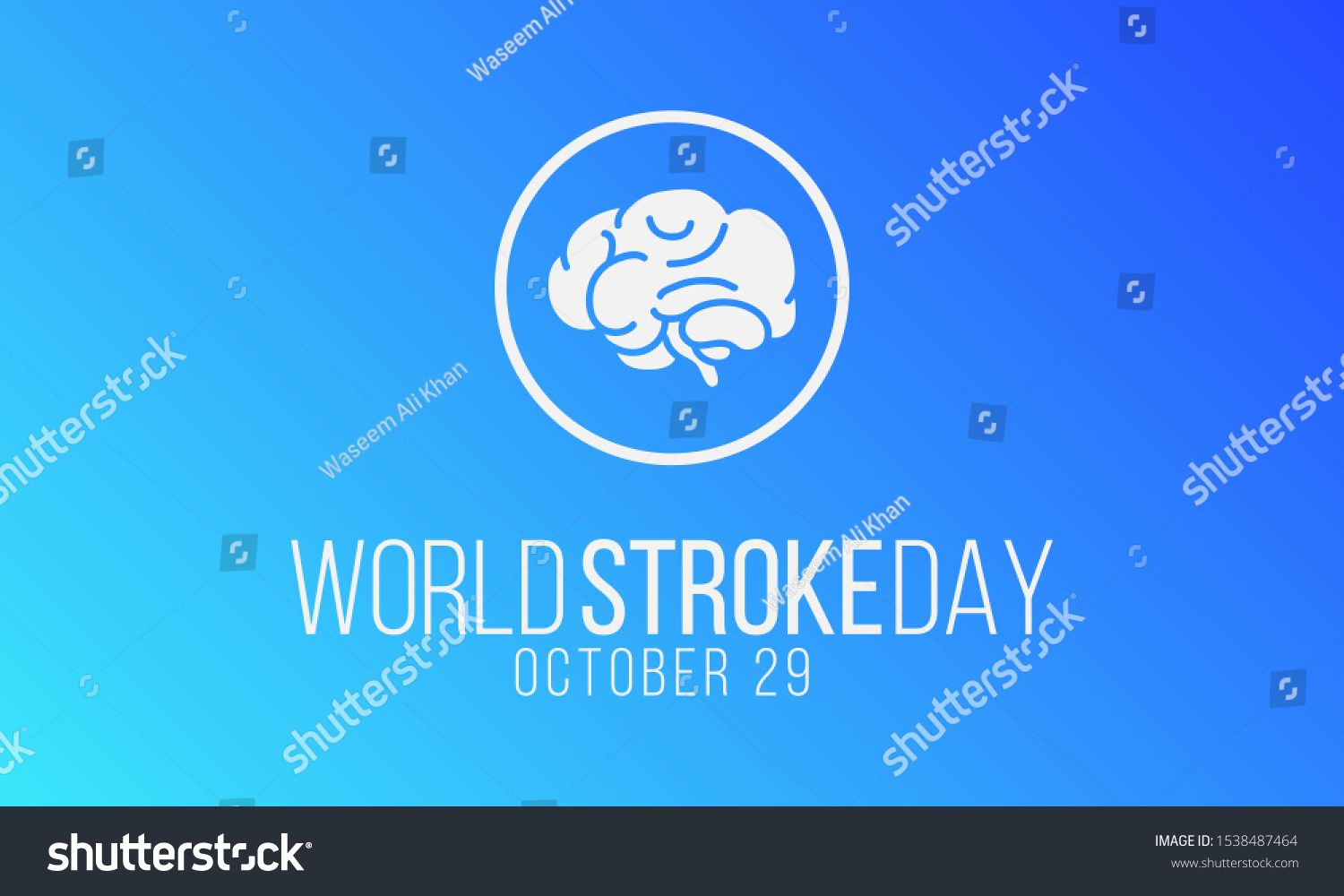Vector Illustration On The Theme Of World Stroke Day On October 29th Ad Spon Theme World Vector Illustration In 2020 World Stroke Day Poster Mockup Theme