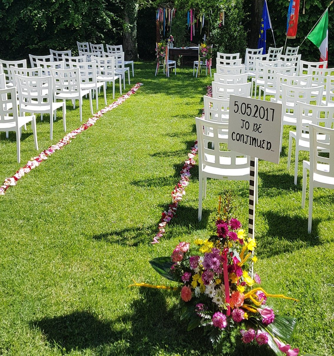 Boho wedding  Running wedding theme Rito civile all'aperto