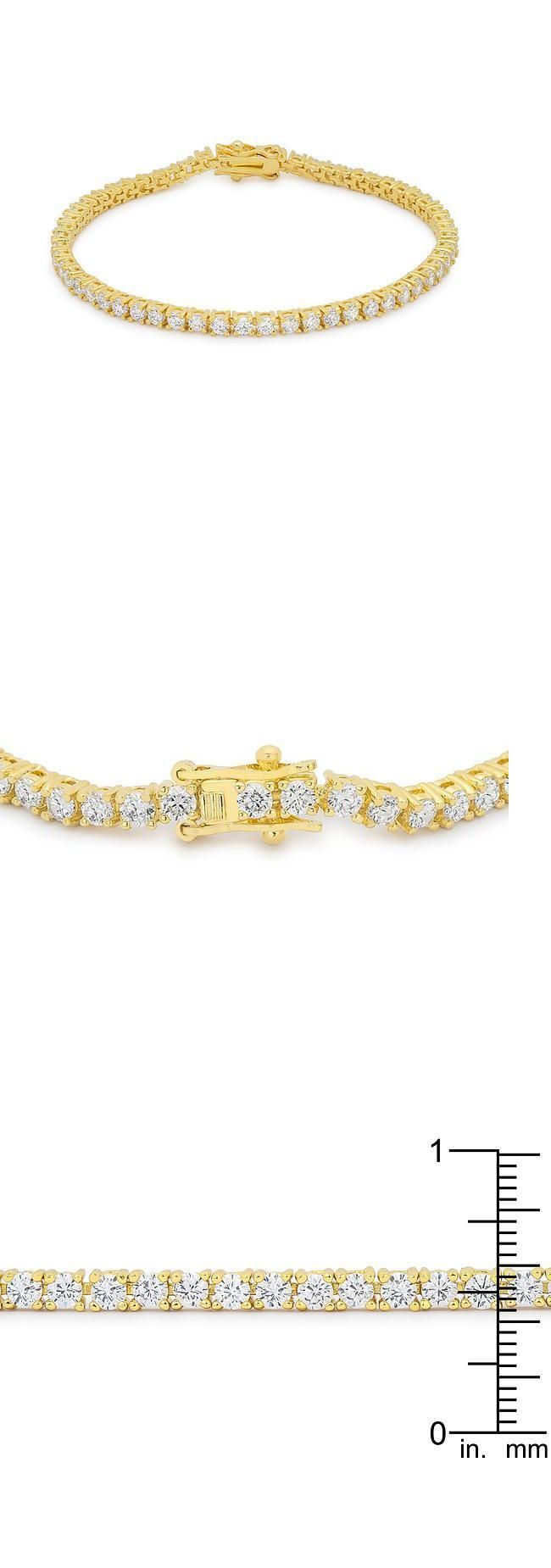 carat round cut diamond tennis bracelet k gold finish diamond