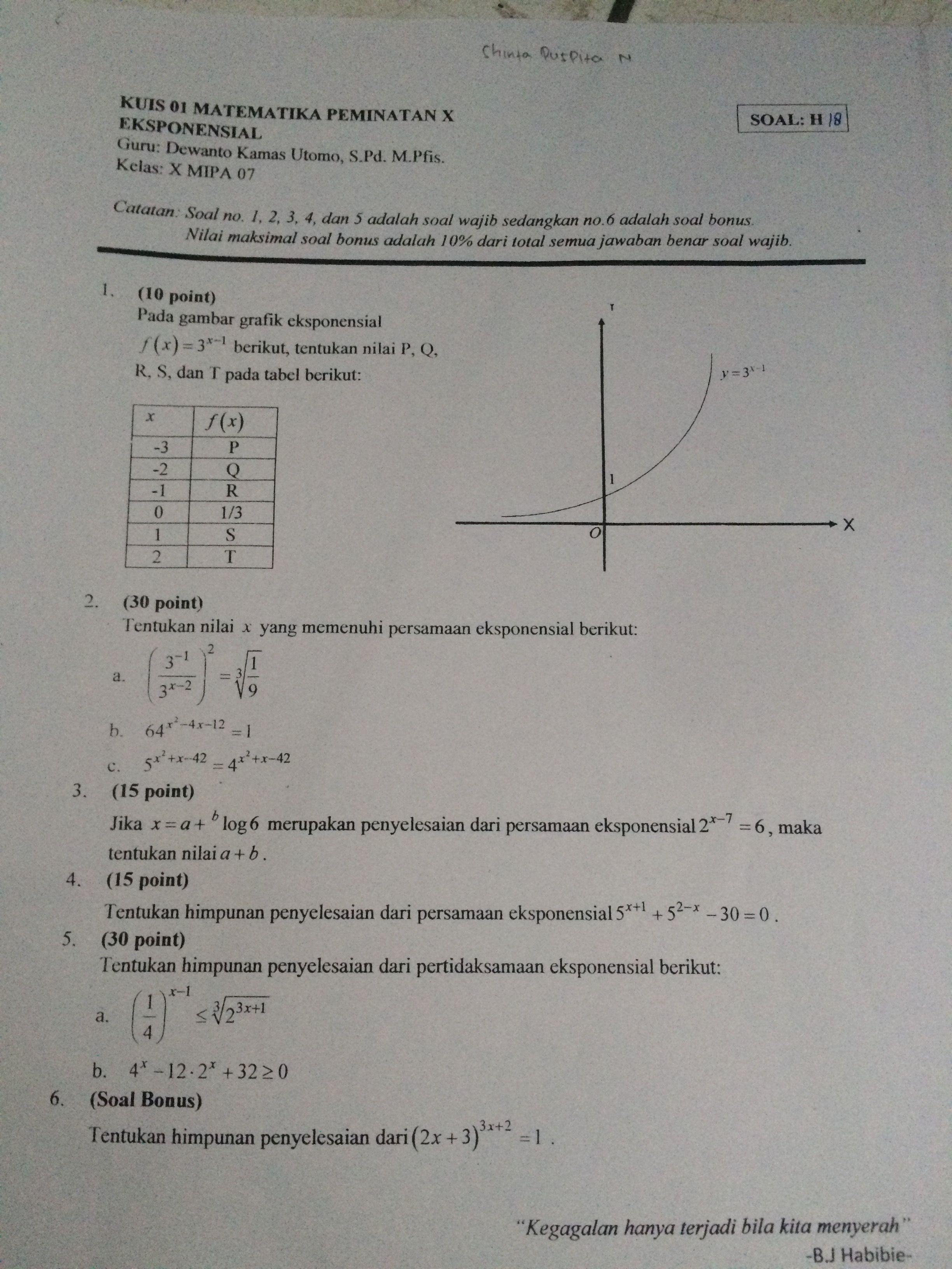 Pin Oleh Pasha Rahmadina Di Noting Matematika Guru Pengikut