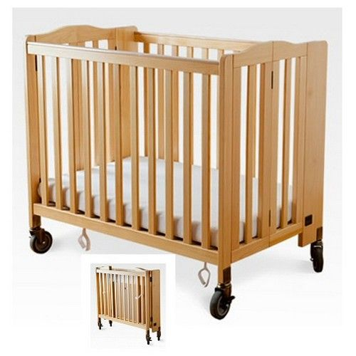 Foldaway Portable Evacuation Baby Crib Natural Simmons