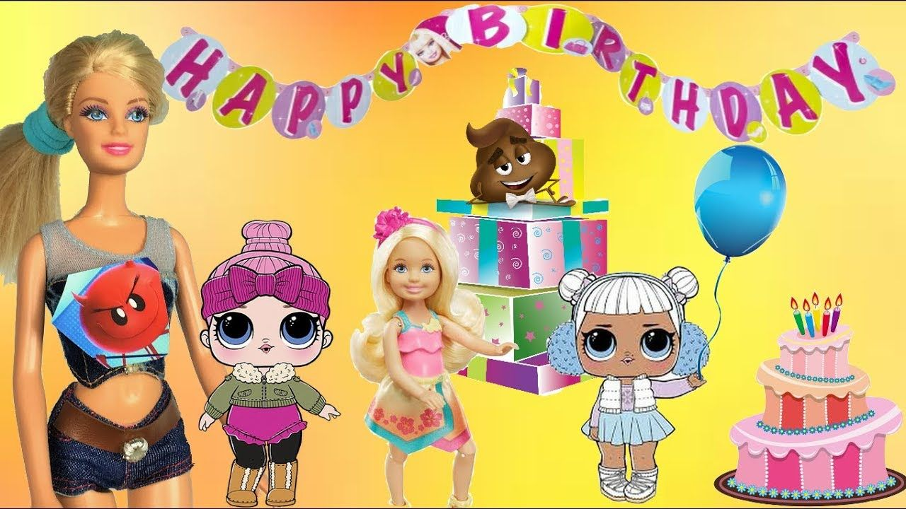 LOL Surprise Dolls Dress Up for Chelsea\'s Birthday Party - Barbie ...