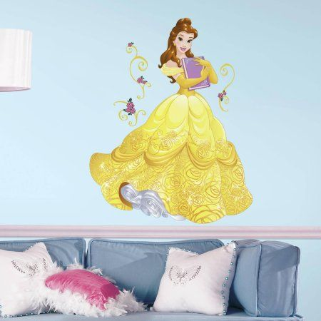 RoomMates Decor Disney Sparkling Belle Peel-and-Stick Giant Wall ...