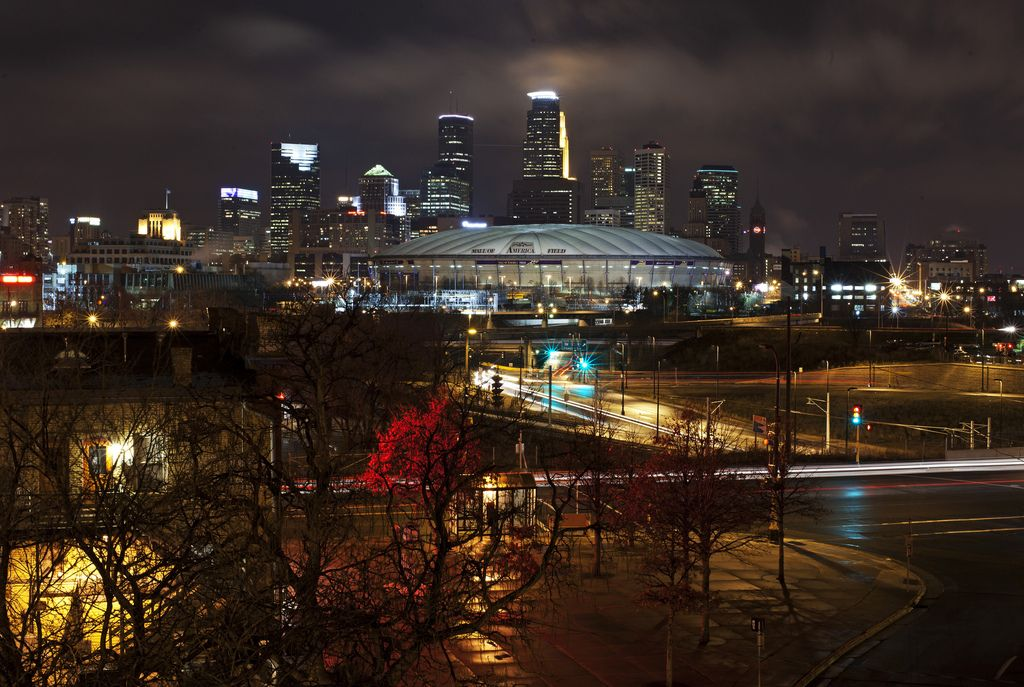 Downtown Minneapolis At Night Minnesota Home Park Rapids