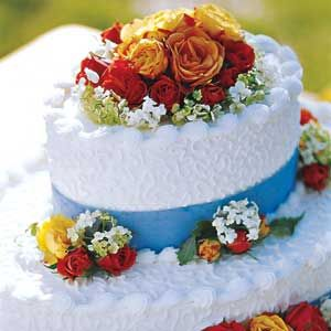 Garden Bridal Cake | MyRecipes.com