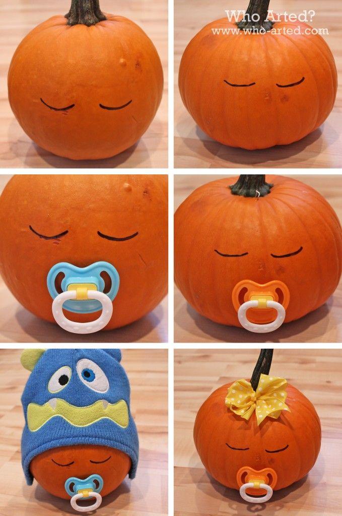 Alternatives To Carving Pumpkins Baby Shower Pumpkin Baby In