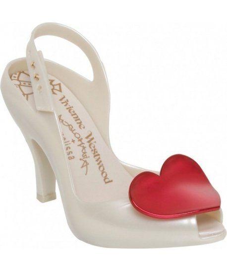 Vivienne Westwood Melissa Heart Shoes Pearl