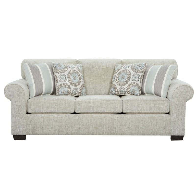 Charisma Cream Chenille Sofa Weekends Only Furniture And Mattress