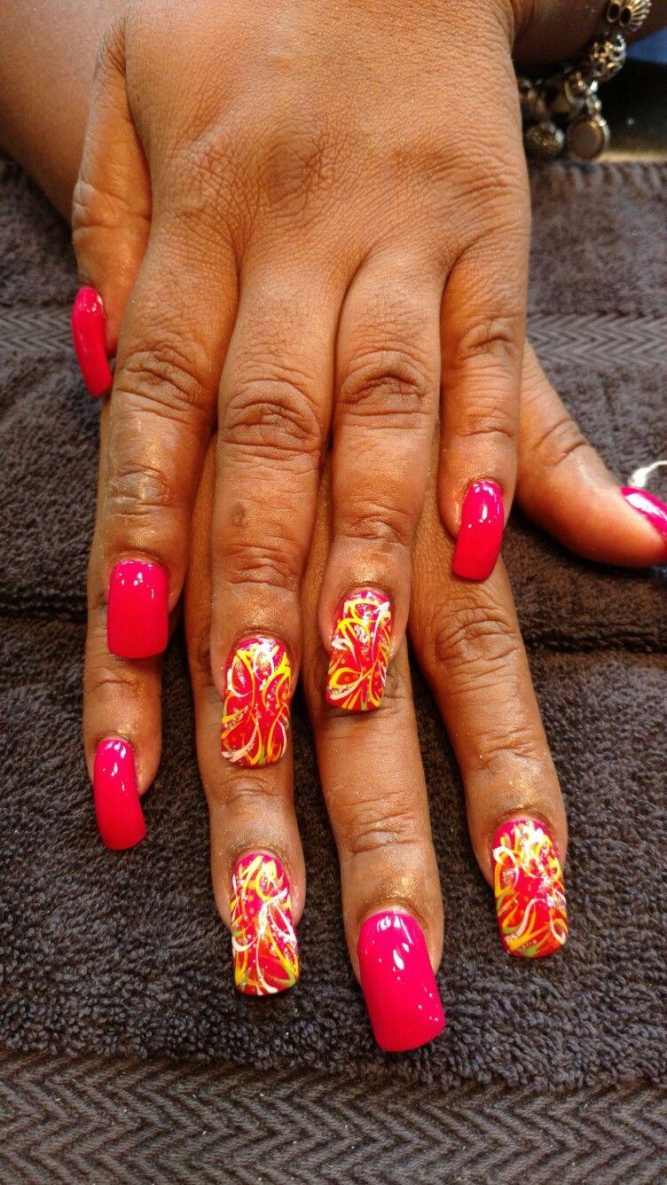 Acrylic nails my work pinterest