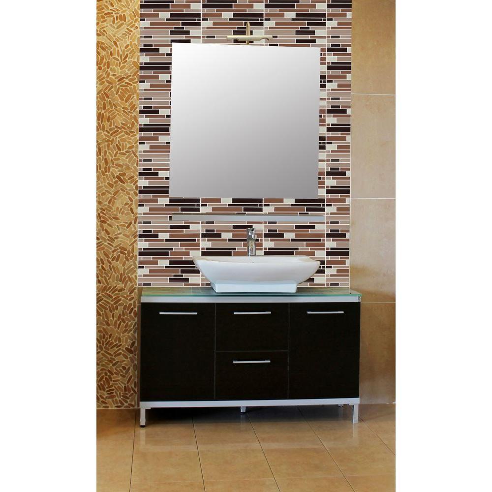in x in Magic Gel Decorative Mosaic Wall Tile in
