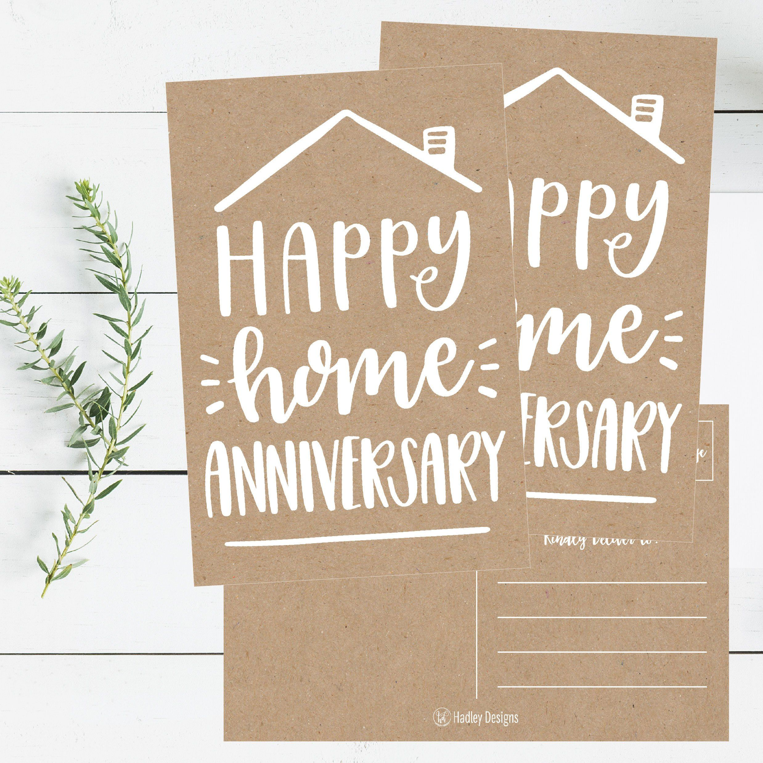 25 kraft happy home anniversary realtor cards blank greeting house