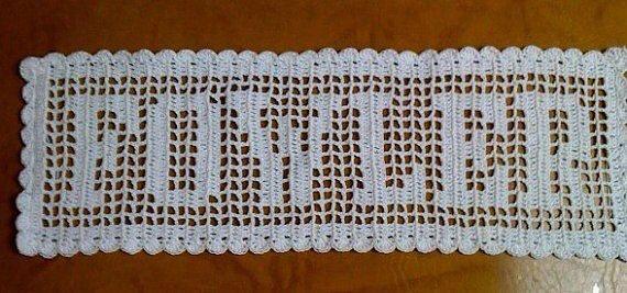 Filet Crochet Name Doily | crochet filet | Pinterest