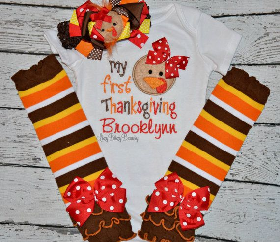 1ae69c42c My first thanksgiving baby girl outfit girly by Itzybitzybeauty ...