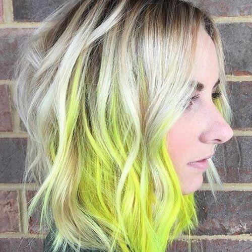 50 Peekaboo Highlights Ideen Mode Haar Style Peekaboo Hair Colors Peekaboo Hair Neon Hair