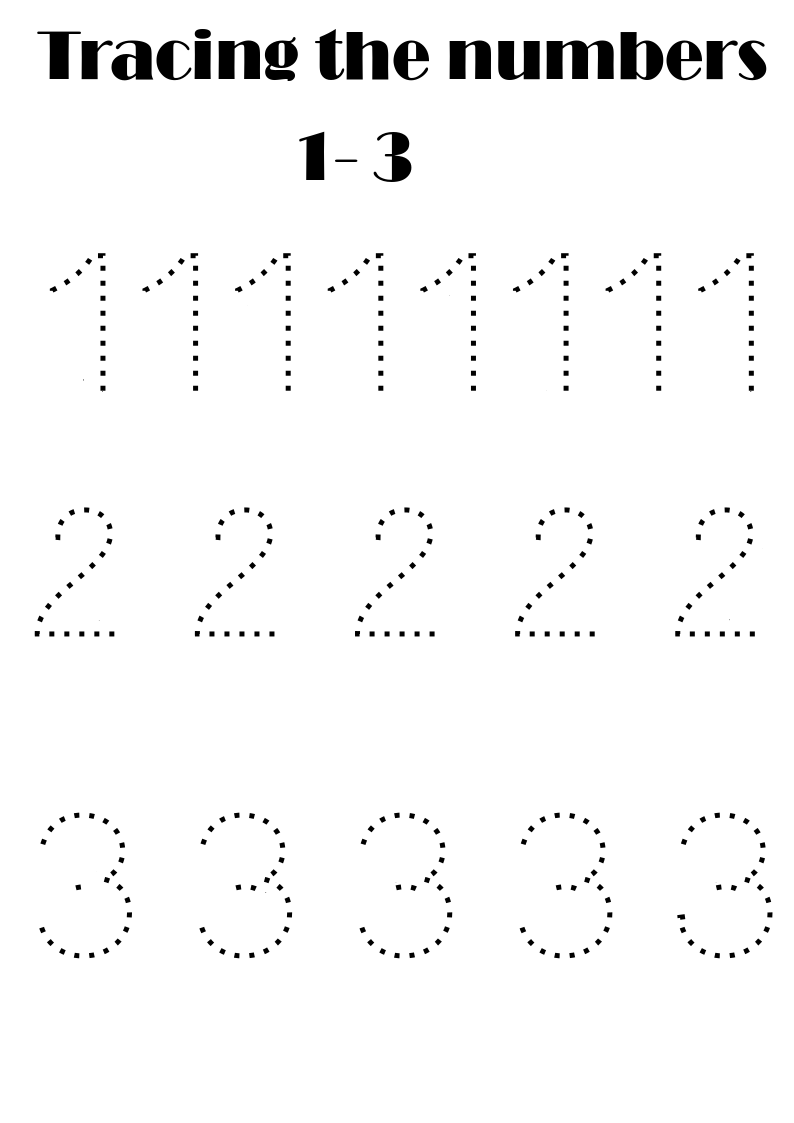 Number Tracing Free Number Tracing Writing Numbers Numbers For Kids [ 1123 x 794 Pixel ]