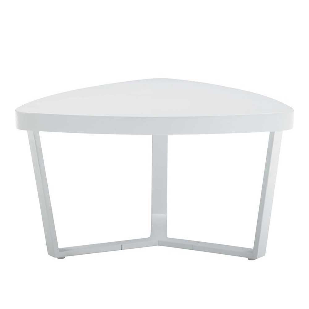 Designer Beistelltische design beistelltisch in weiß dreieckig jetzt bestellen unter https
